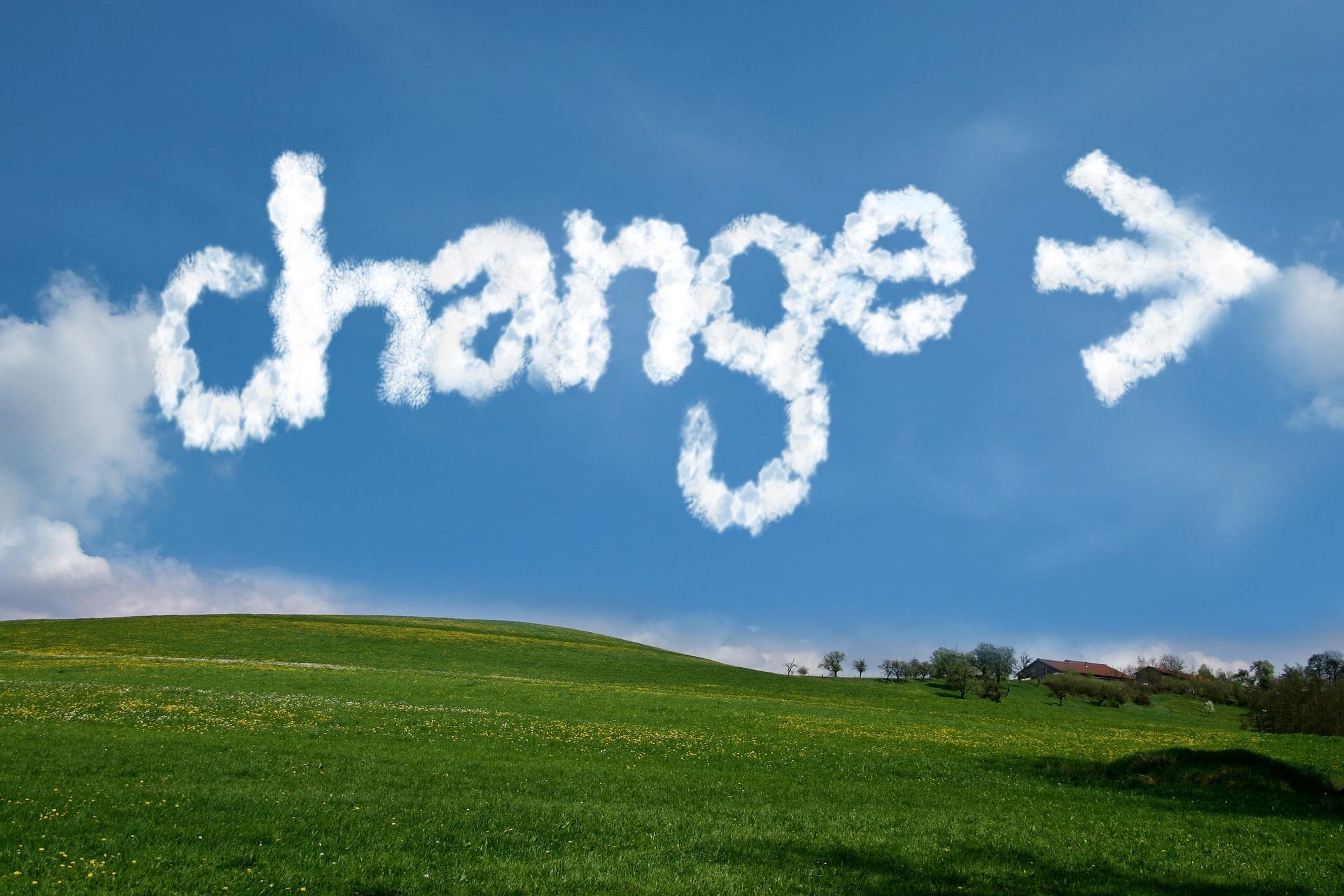 Cambiare anche quando c'è nulla da cambiare
